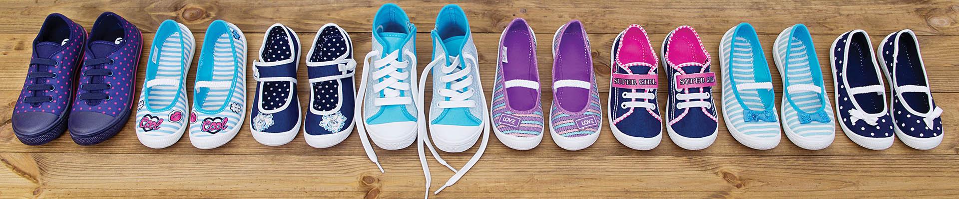 Textile shoes on PVC sole